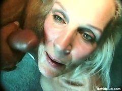 Трахнул старую бабку и кончил на ее морщинистое лицо
